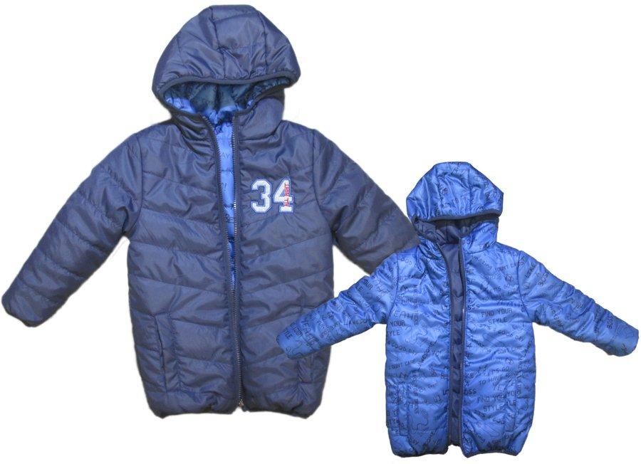 Modrá dětská chlapecká bunda Carodel - velikost 122