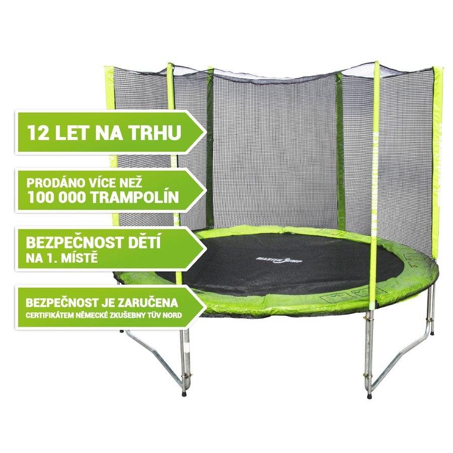 Kruhová trampolína s ochrannou sítí Masterjump - průměr 244 cm