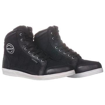 Černé nízké motorkářské boty Kore
