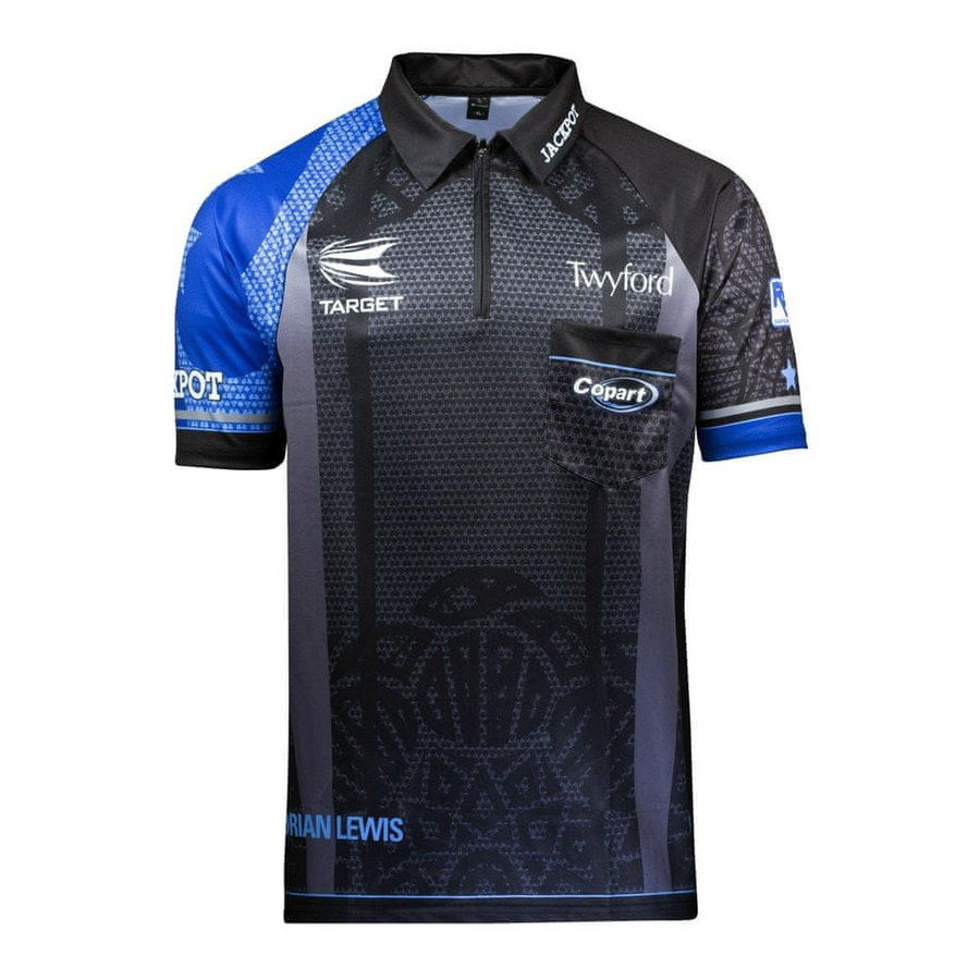 Černo-modrý šipkařský dres Target Darts - velikost XXL
