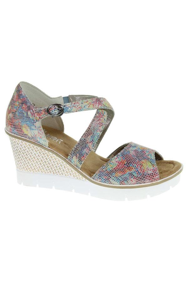 Sandály - 68548-90 multi dámské sandály, klín, přezka