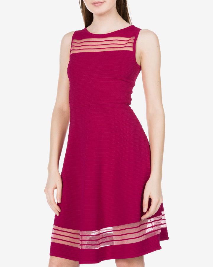 Růžové dámské šaty French Connection - velikost XS