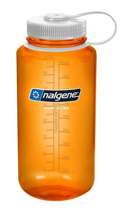 Oranžová láhev na pití Wide Mouth, Nalgene - objem 1 l