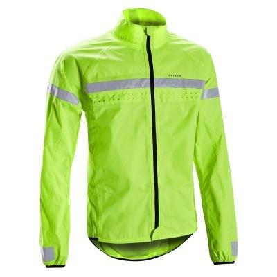 Zelená cyklistická pláštěnka Triban - velikost S