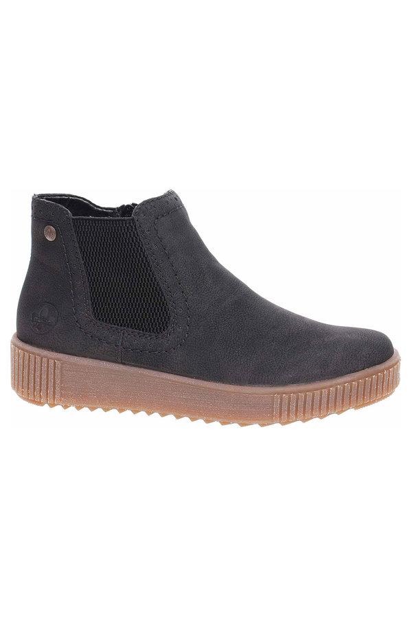 Černé dámské zimní boty Rieker - velikost 42 EU