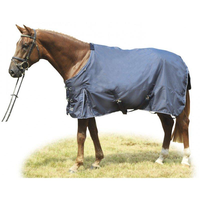Deka na koně - Lehká deka HKM Professional Barevná varianta: Tmavě modrá/světle modrá, Velikost dek: 125