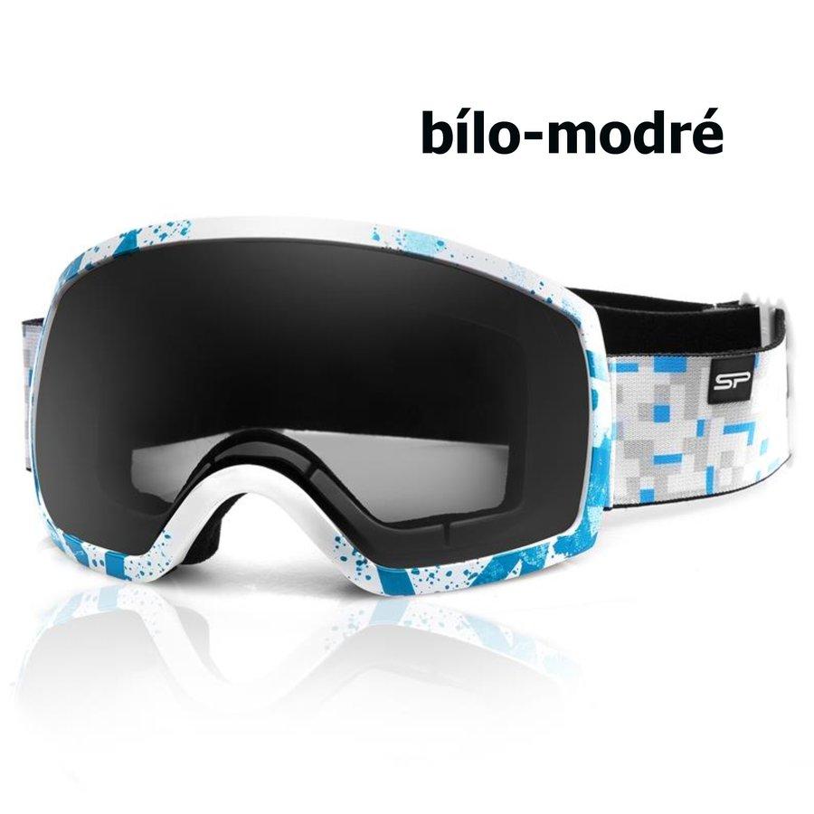 Bílo-modré lyžařské brýle Spokey