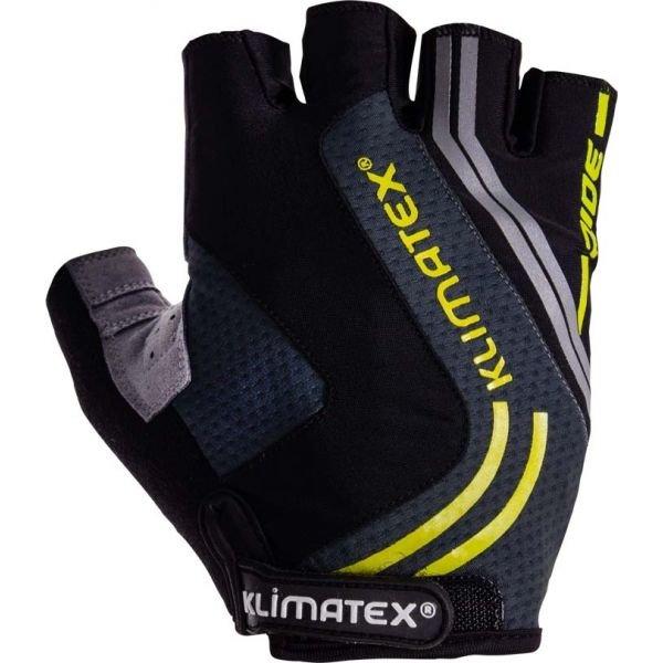 Černo-šedé pánské cyklistické rukavice Klimatex