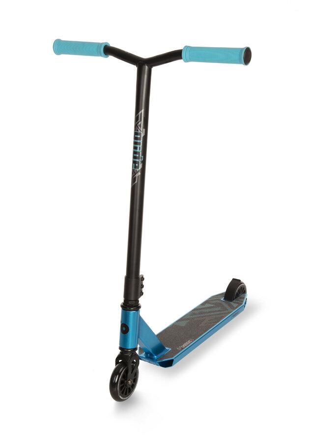 Modrá freestylová koloběžka Movino - nosnost 100 kg