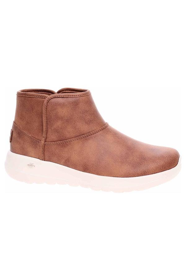 Hnědé dámské kotníkové boty Skechers