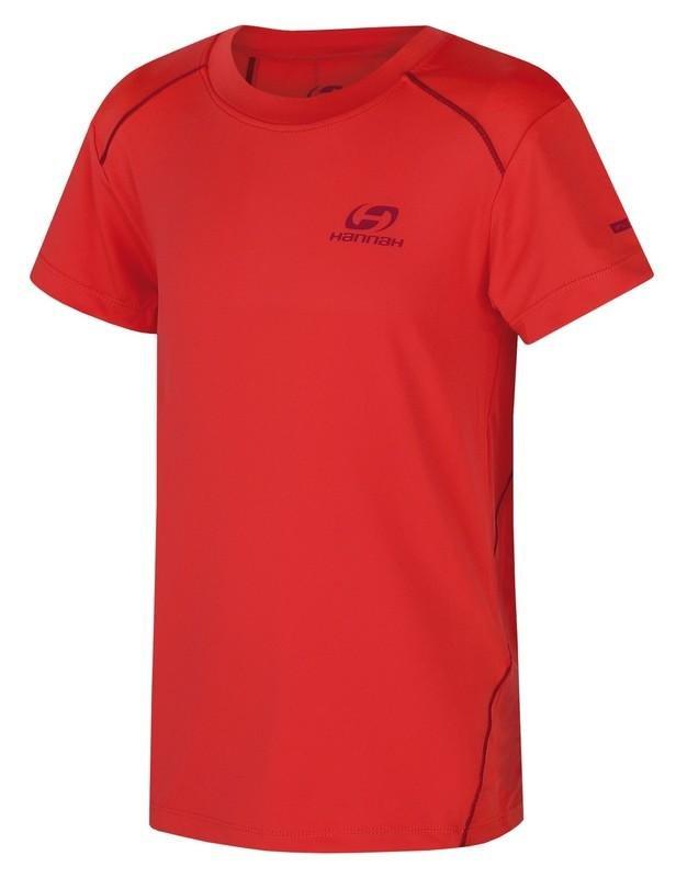 Červené dětské tričko s krátkým rukávem Hannah