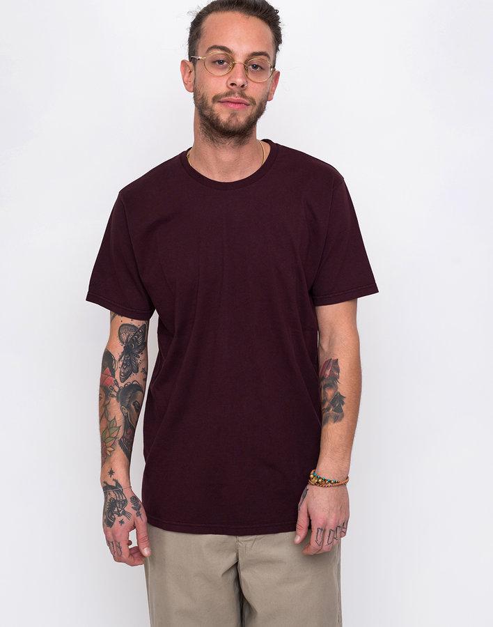 Červené pánské tričko s krátkým rukávem Colorful Standard