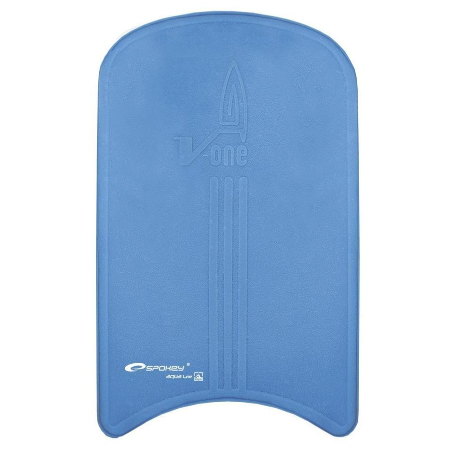 Modrá plavecká deska V-ONE, Spokey - délka 46 cm, šířka 30 cm a tloušťka 4,5 cm