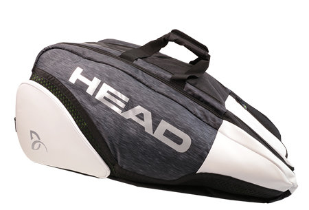 Bílo-černá tenisová taška Djokovic 12R Monstercombi, Head
