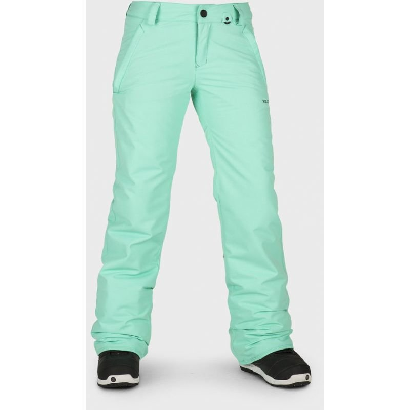 Zelené dámské snowboardové kalhoty Volcom - velikost M