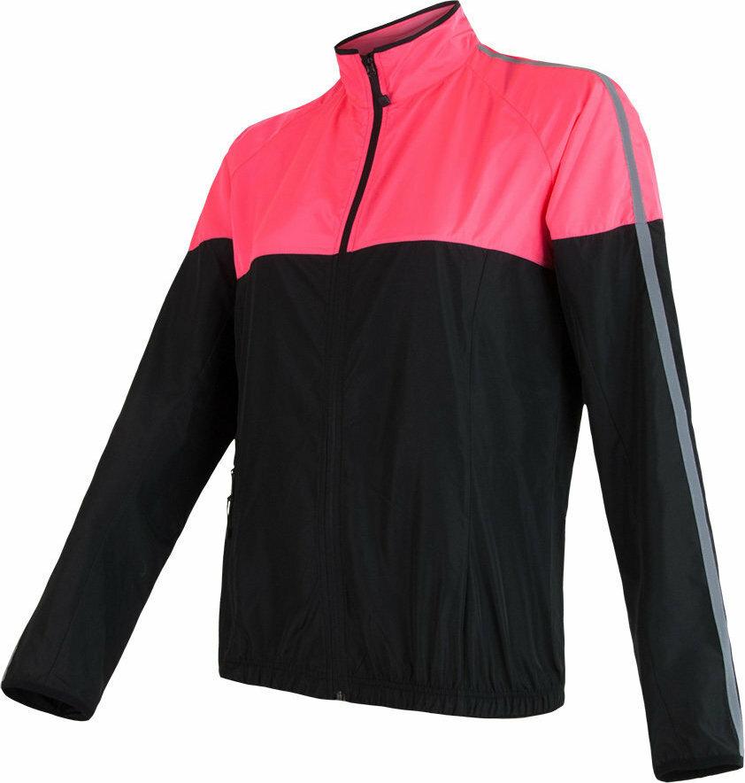 Černo-růžová dámská cyklistická bunda Sensor - velikost S