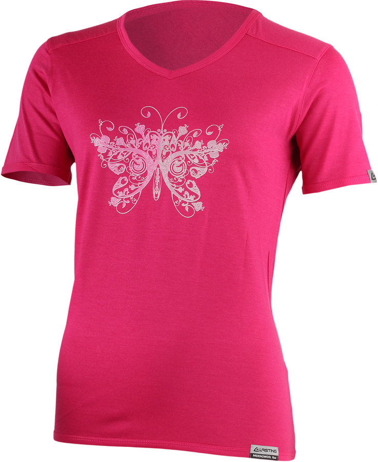 Růžové dámské tričko s krátkým rukávem Lasting