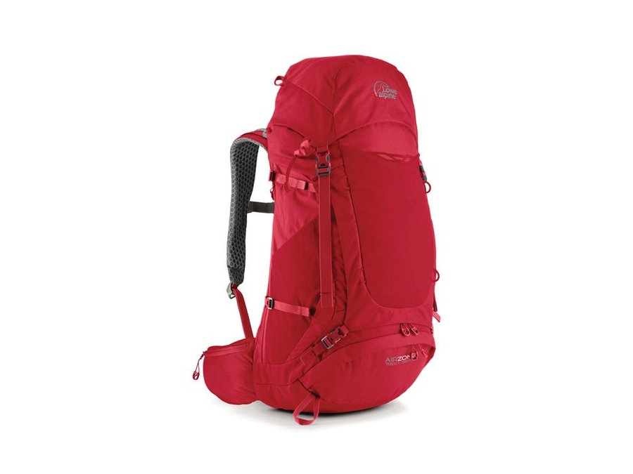 Červený turistický batoh Lowe Alpine - objem 55 l