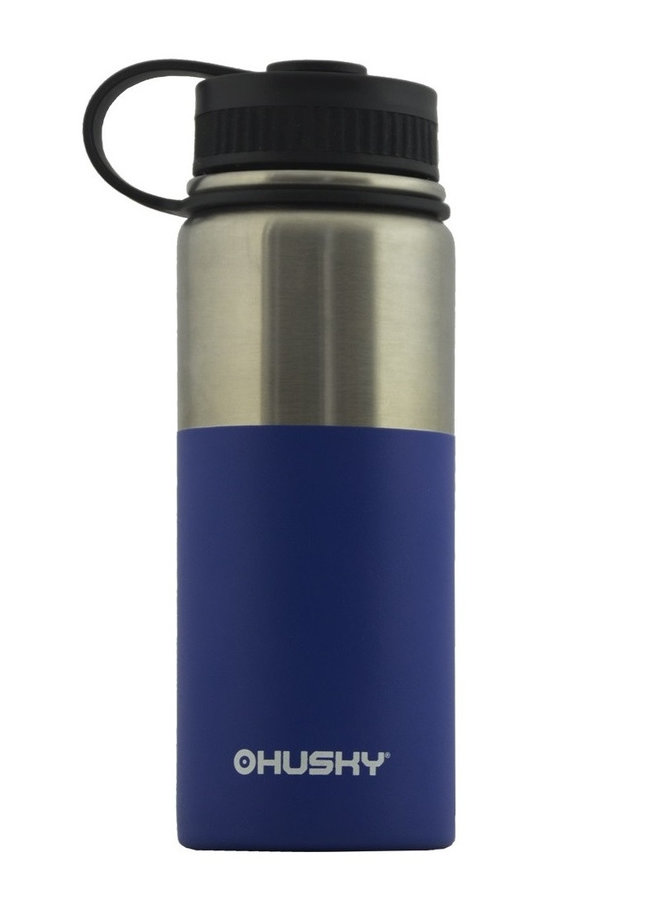 Modrá termoska na pití Husky - objem 0,6 l
