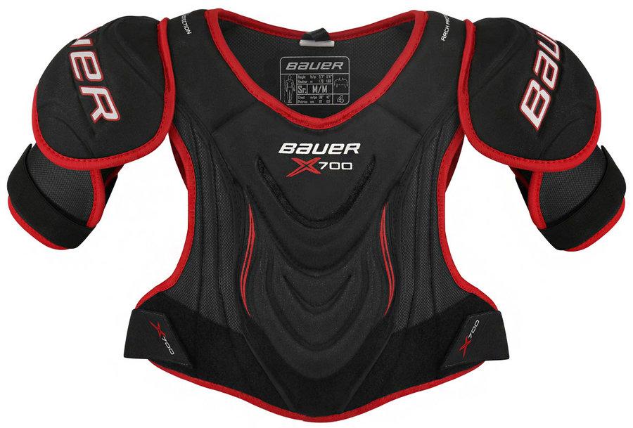 Černý hokejový chránič ramen - junior Bauer - velikost M