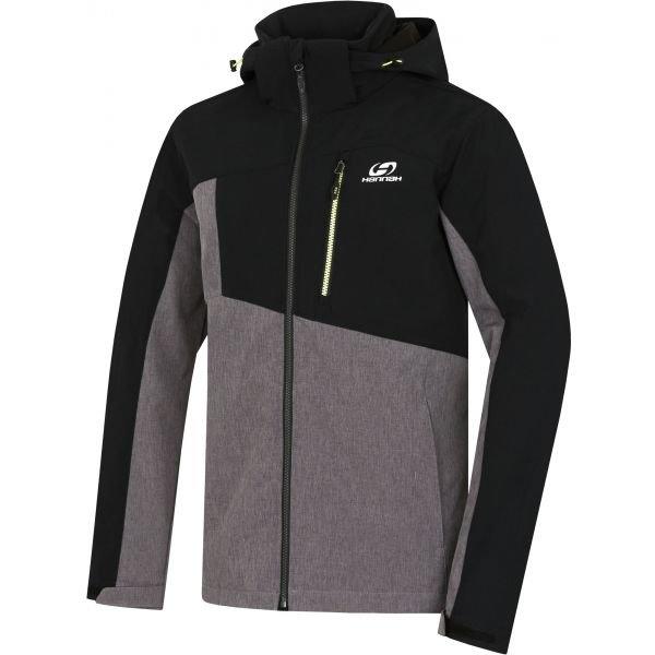 Černo-šedá pánská bunda Hannah - velikost XXL