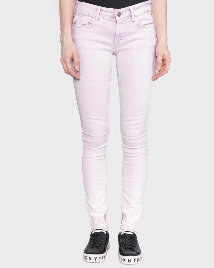Růžové dámské džíny Replay