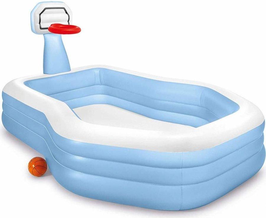 Dětský nafukovací nadzemní oválný bazén INTEX - délka 257 cm, šířka 188 cm a výška 130 cm