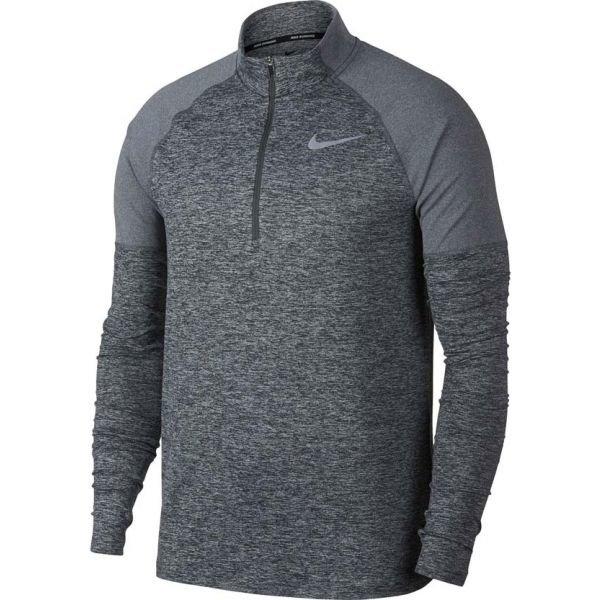 Šedé pánské běžecké tričko Nike