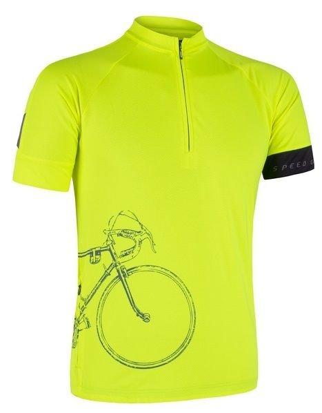 Žlutý pánský cyklistický dres Sensor - velikost M