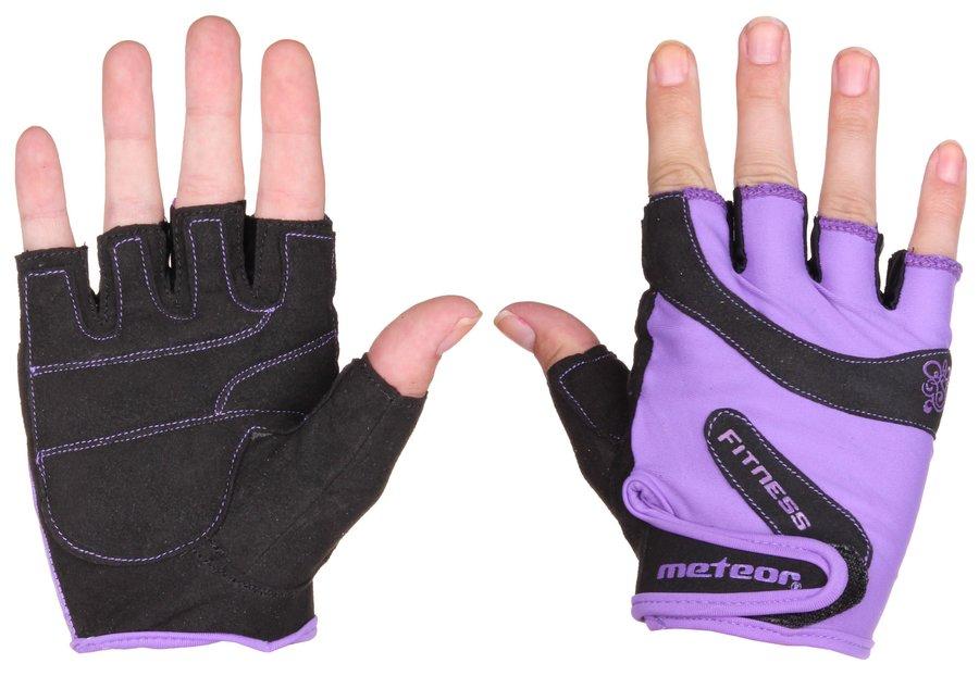 Fitness rukavice - Meteor Grip Lady fialová L