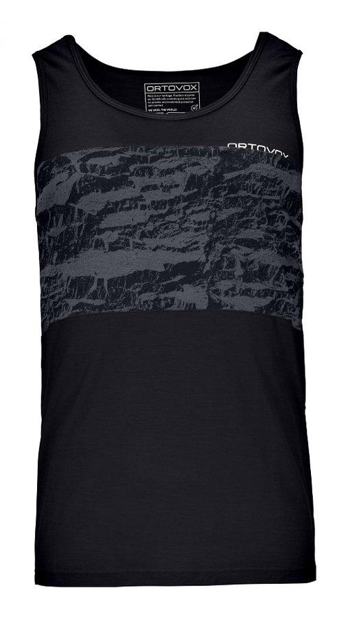Černé pánské turistické tričko bez rukávů Ortovox - velikost M