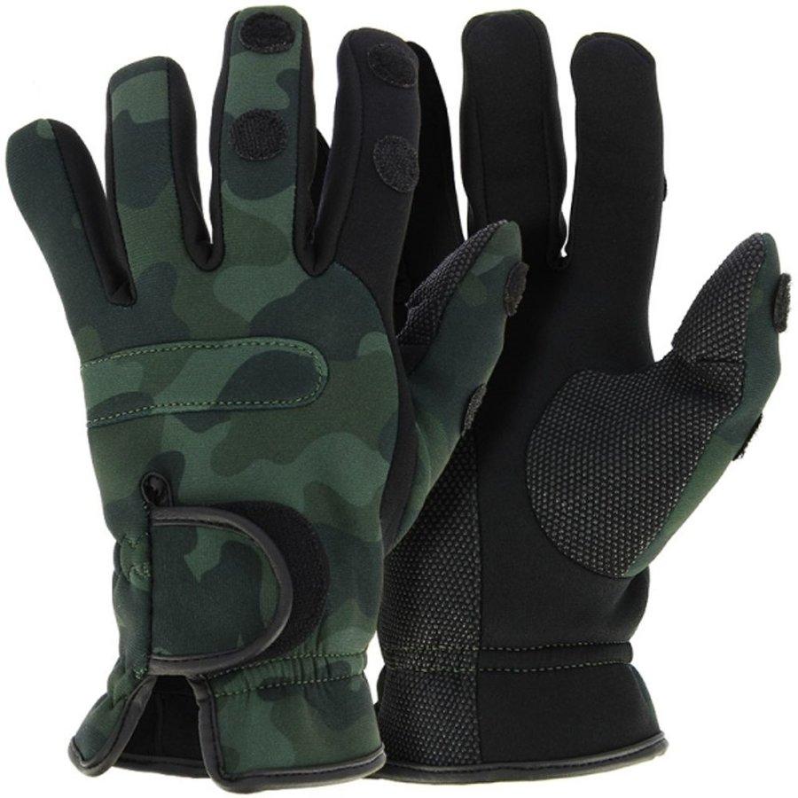 Maskáčové neoprenové rukavice NGT