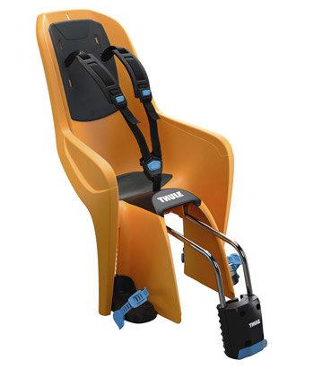 Oranžová dětská sedačka na kolo zadní umístění Thule - nosnost 22 kg