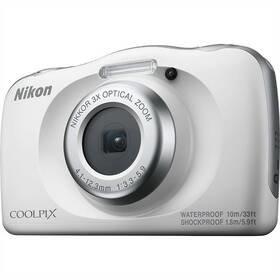 Bílý outdoorový fotoaparát Coolpix W150, Nikon
