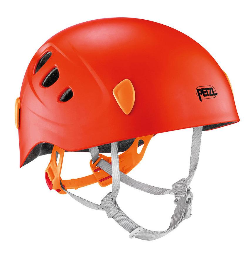 Oranžová horolezecká helma Petzl