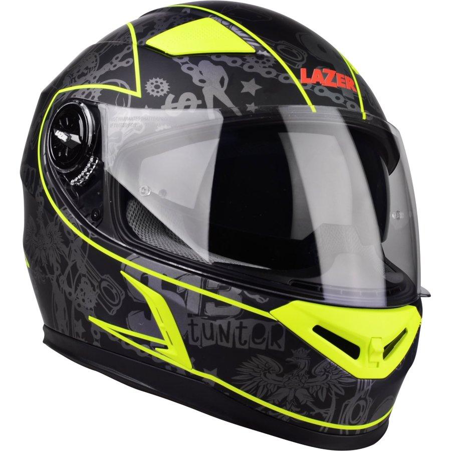 Černo-žlutá unisex helma na motorku Bayamo, Lazer