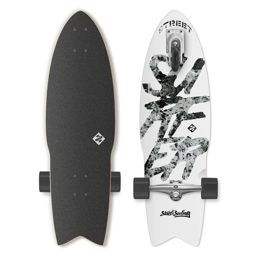 """Longboard - Longboard Street Surfing Shark Attack Great White 30"""""""