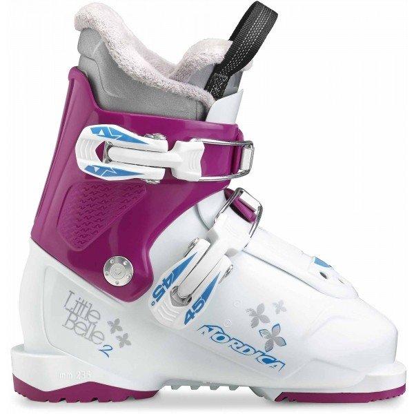 Bílo-růžové dívčí lyžařské boty Nordica