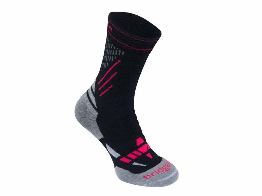 Černo-šedé dámské lyžařské ponožky Bridgedale