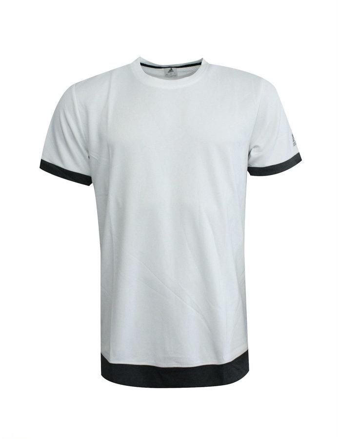 Bílé pánské tričko s krátkým rukávem Adidas - velikost S