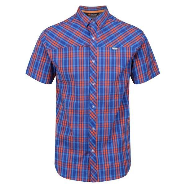 Modrá pánská košile s krátkým rukávem Regatta - velikost S