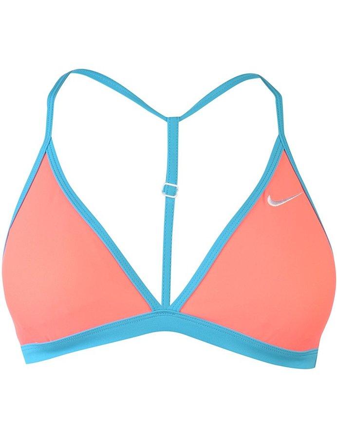 Modro-růžové plavky - vrchní díl Nike