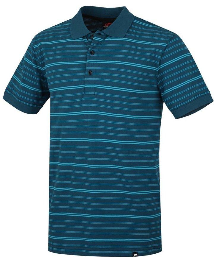 Modré pánské tričko s krátkým rukávem Hannah - velikost S