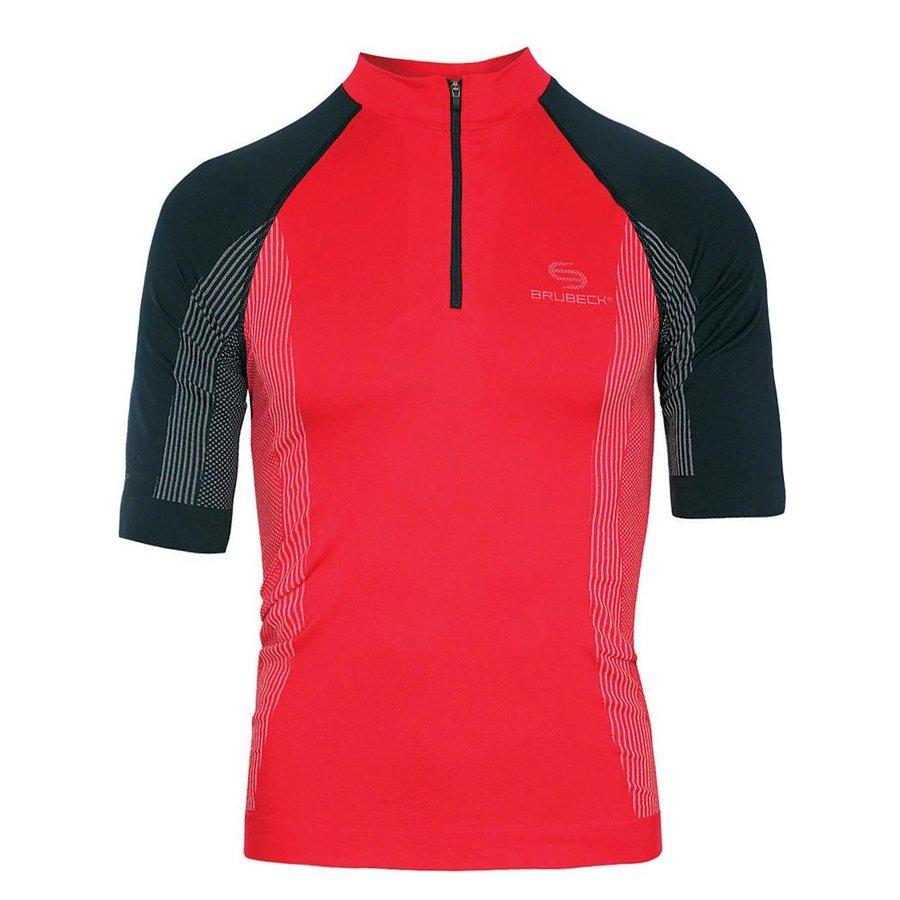 Černo-červené pánské termo tričko s krátkým rukávem - velikost S