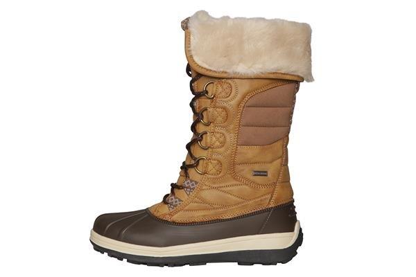 Hnědé dámské zimní boty Alpine Pro