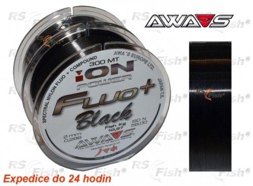 Rybářský vlasec - Awa-S® Vlasec Awa-S ION Power Fluo Black 0,309 mm