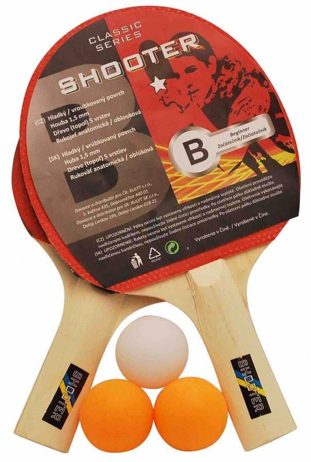 Sada na stolní tenis - Set na pingpong RULYT 1ST-01, 2 x raketa, 3 x míč