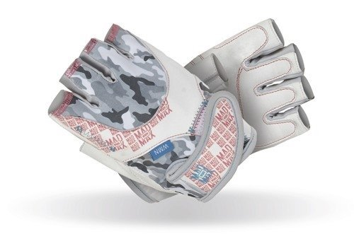 Bílé dámské fitness rukavice Mad Max