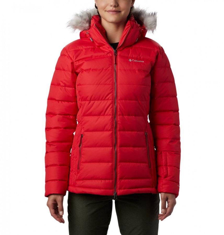 Červená dámská lyžařská bunda Columbia