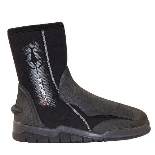 Černo-šedé vysoké neoprenové boty Premium Boots, Beuchat